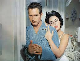 Paul Newman and Elizabeth Taylor in the film version of Cat on a Hot Tin Roof.