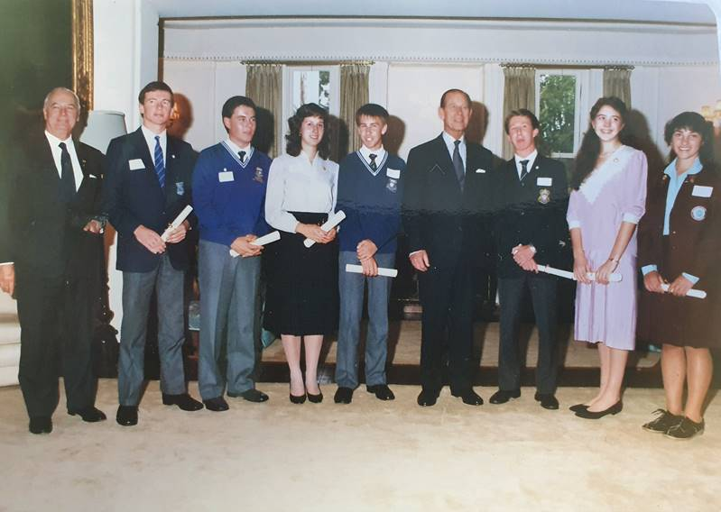Then St Edmund's College student Ian Hancock (third from left) at Government House in 1986 in Canberra with Prince Philip and other recipients of the Duke of Edinburgh's Award. Picture: Supplied
