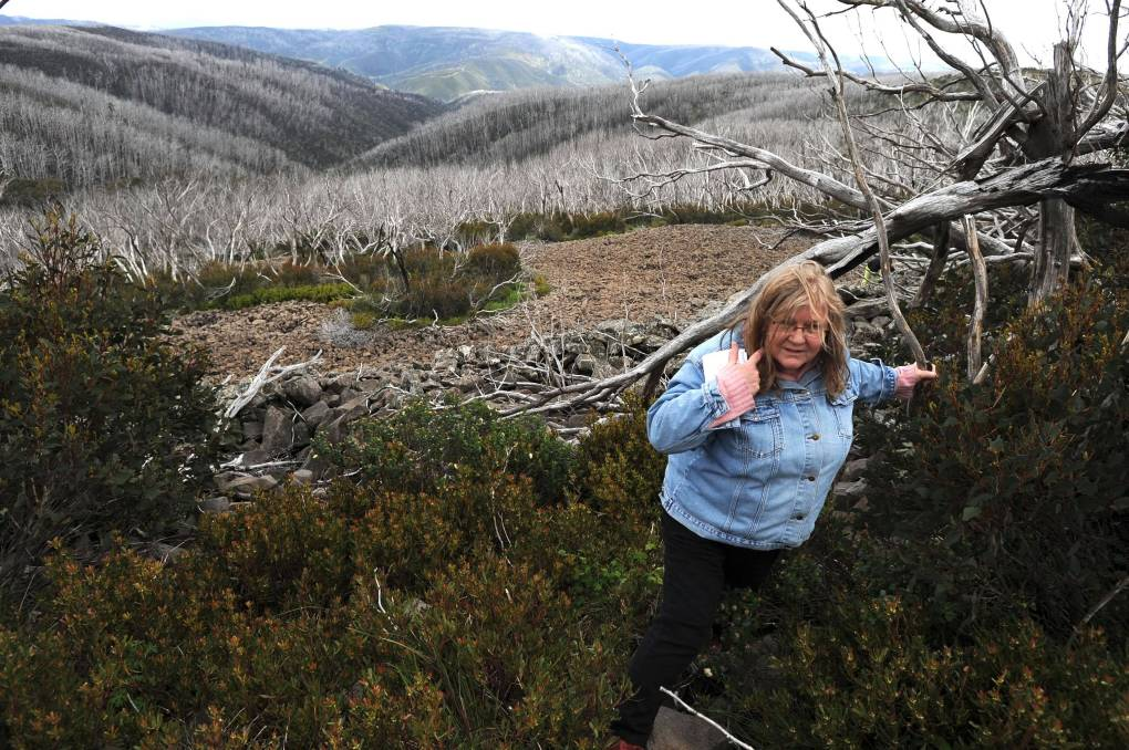 Rosslyn Beeby on assignment in Kosciuszko National Park in 2010. Picture: Andrew Sheargold