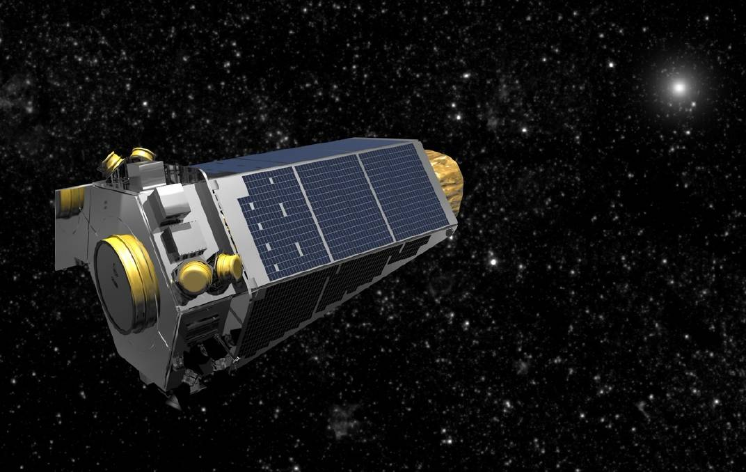 An illustration of NASA's Kepler space telescope, which by chance caught a