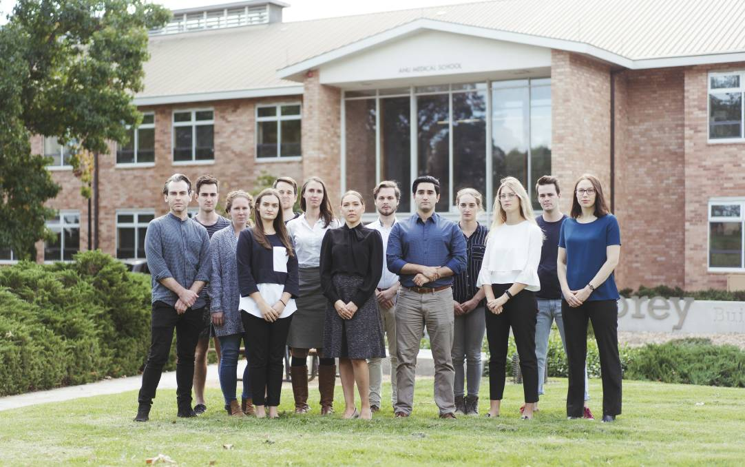 ANU Medical School students are worried that valued staff members will be let go as part of sweeping budget cuts. Picture: Dion Georgopoulos