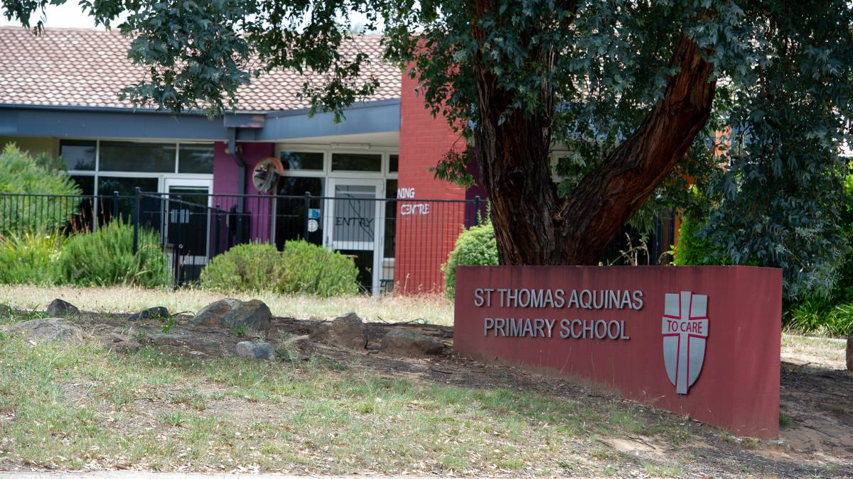 St Thomas Aquinas Primary School in Charnwood, where testing uncovered concentrations of potentially harmful chemicals above recommended levels. Picture: Elesa Kurtz