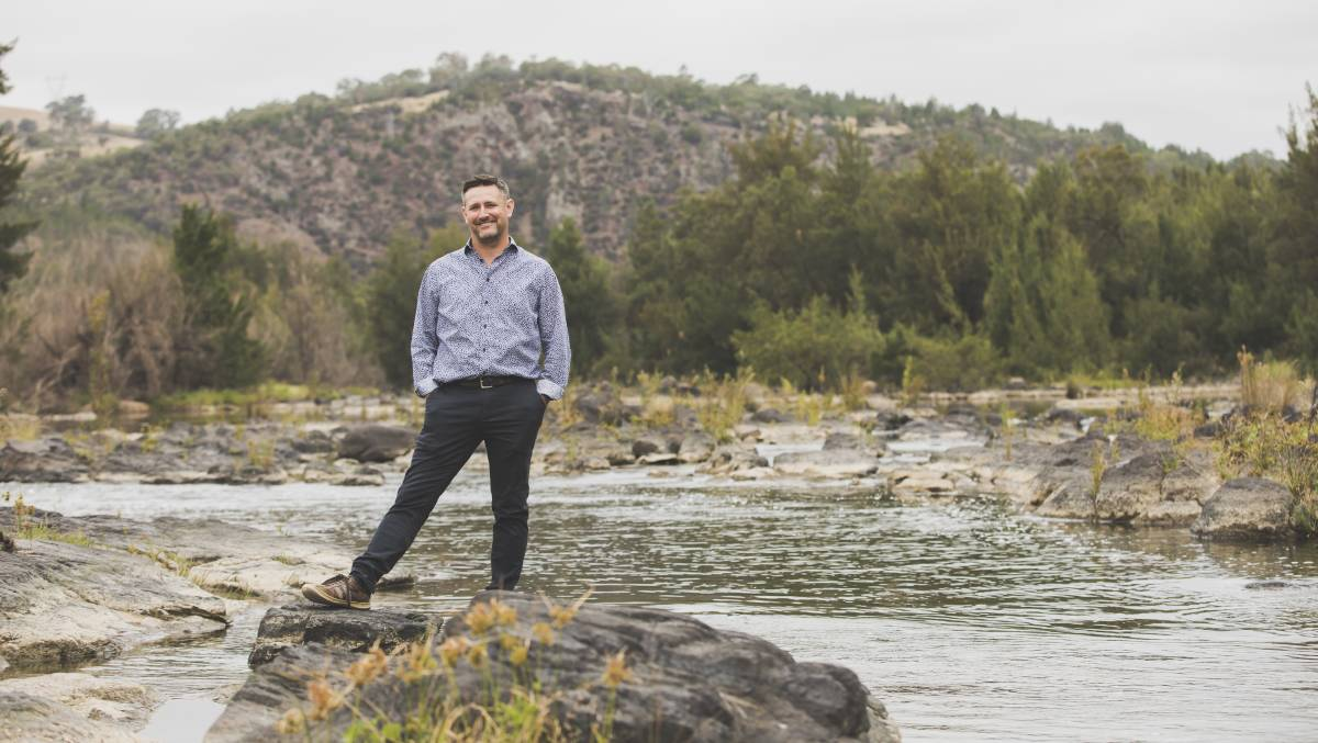 Ginninderry Conservation Trust chief executive Dr Jason Cummings, pictured at Ginninderra Falls. Picture: Jamila Toderas