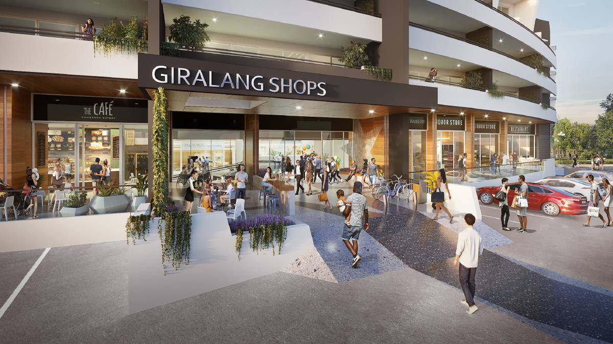 A 3D artist's impression of the Giralang shops redevelopment, after it was approved with call-in powers in 2018. Picture: Supplied
