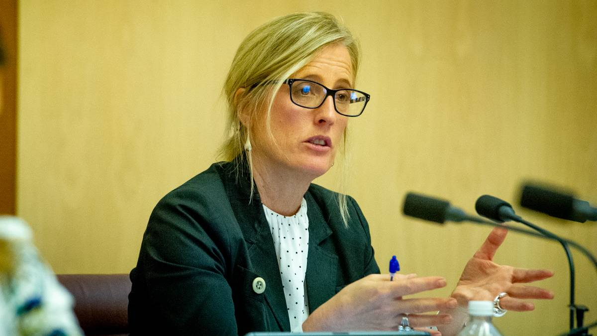 Labor senator Katy Gallagher leads the committee inquiring into the government's handling of the pandemic. Picture: Elesa Kurtz