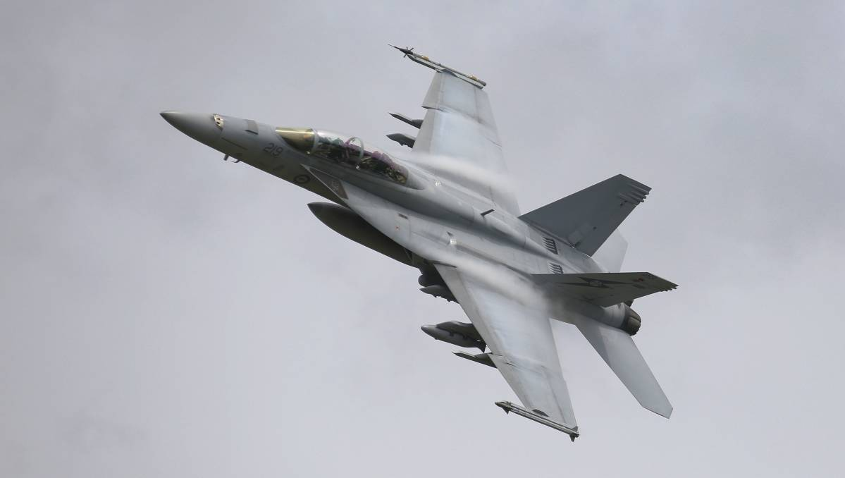 An F/A-18F Super Hornet. The government has said it will increase its military spending. Picture: The Department of Defence