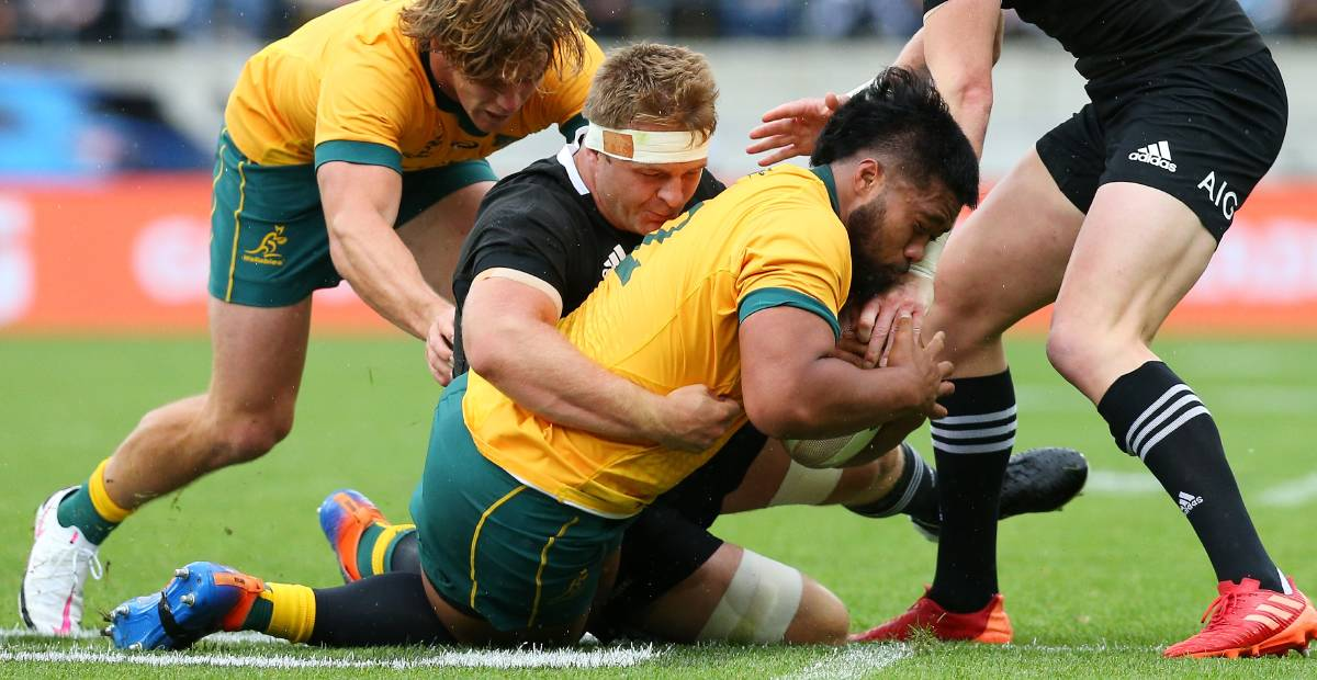 The Wallabies struggled at the breakdown. Picture: Getty