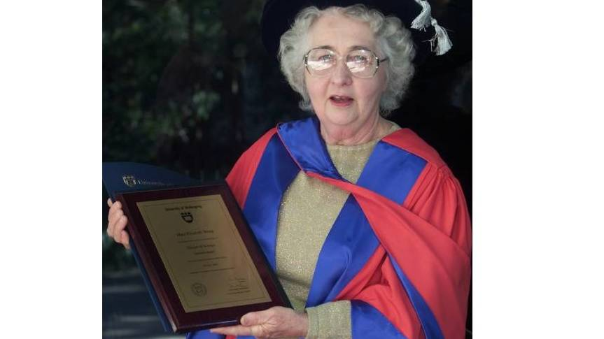 Dr Mary White, who died at an aged care home in the Southern Highlands in 2018. Picture: Supplied