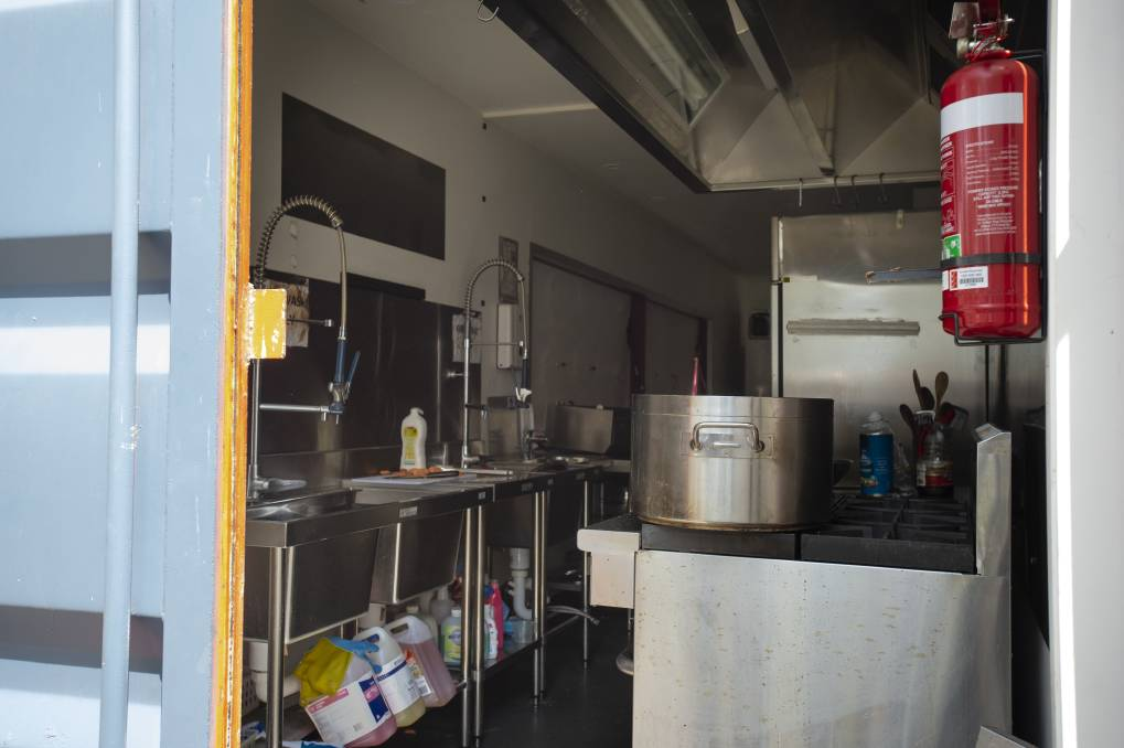 The kitchen where the explosion occurred was housed within a shipping container. Picture: Sitthixay Ditthavong