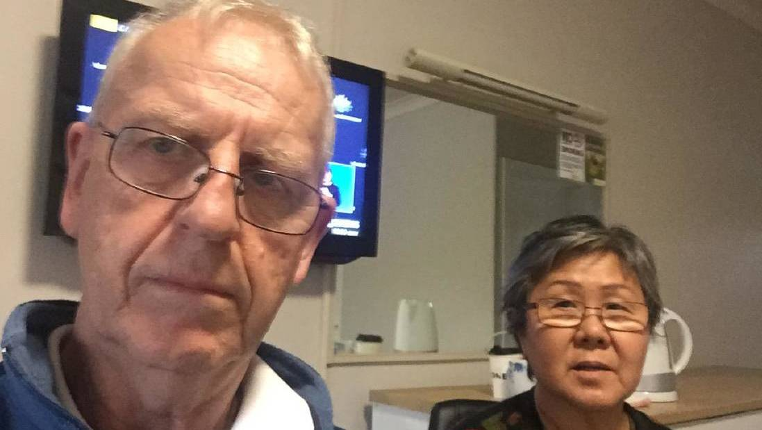 Ross and Helen Muir are ACT residents and are stuck in Wodonga.