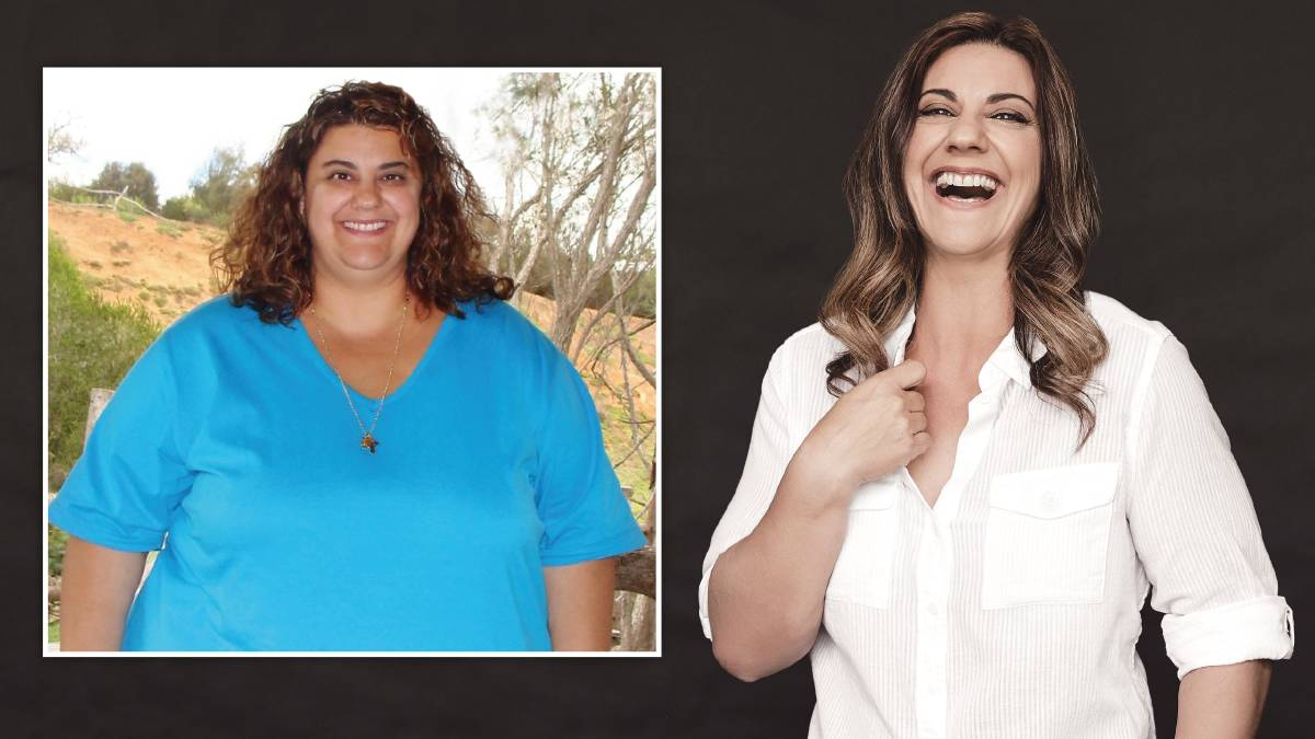 Anna Van Dyken before and after she lost 70kg. Picture: Supplied