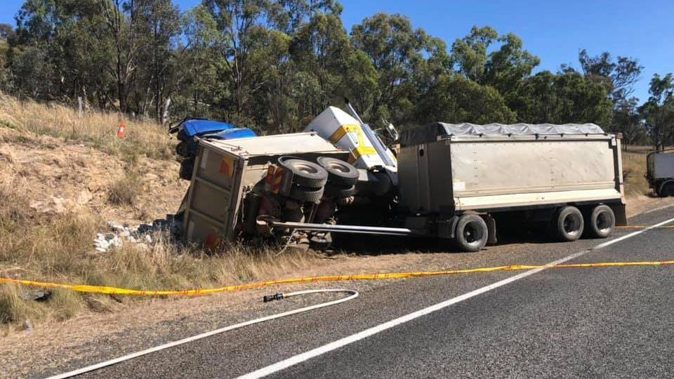 A motorcyclist has died after a crash on the Monaro Highway at Michelago. Picture: Monaro Police District