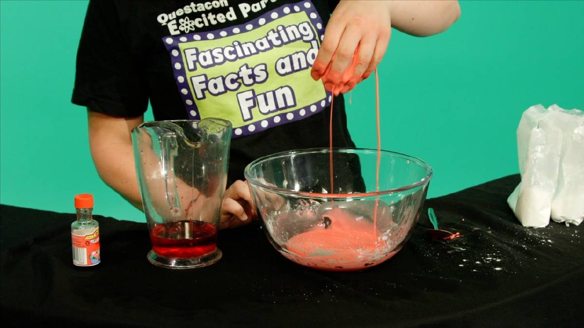 Kids can make non-toxic slime out of cornflour. Photo: Questacon