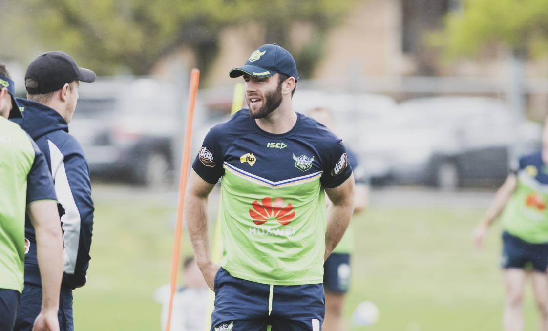 Matt Frawley will make his Raiders debut on Saturday. Picture: Dion Georgopoulos.