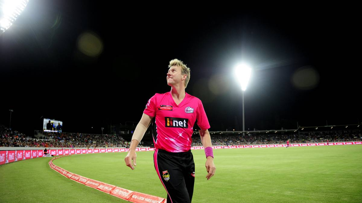 Brett Lee was still playing the last time the Sixers were in Canberra, in 2015. Picture: Melissa Adams