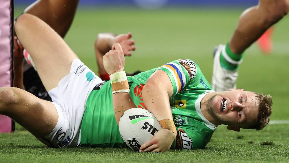 George Williams has scored seven tries for the Canberra Raiders this season. Picture: Getty Images.