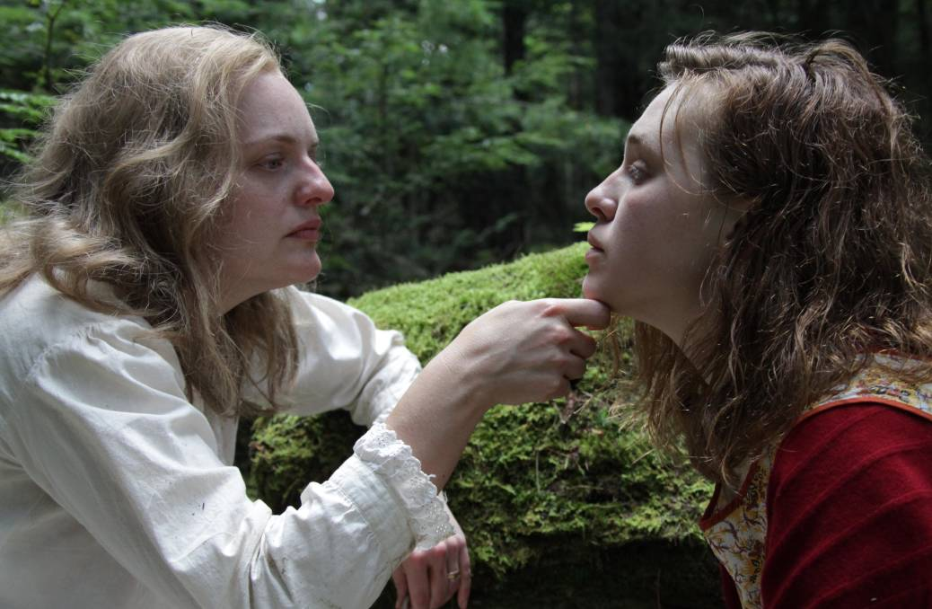 Elisabeth Moss and Odessa Young in Shirley. Picture: Supplied