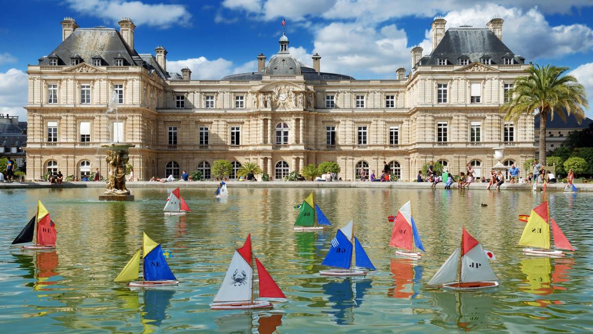 Tiny sailing boats float in the fountain outside Luxembourg Palace, in the Luxembourg Garden in Paris. Picture: Shutterstock