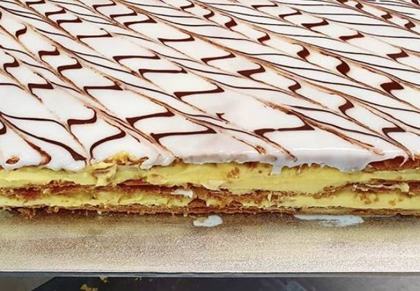 Bermagui's Cream Patisserie makes their vanilla slices fresh every day. Picture: Supplied