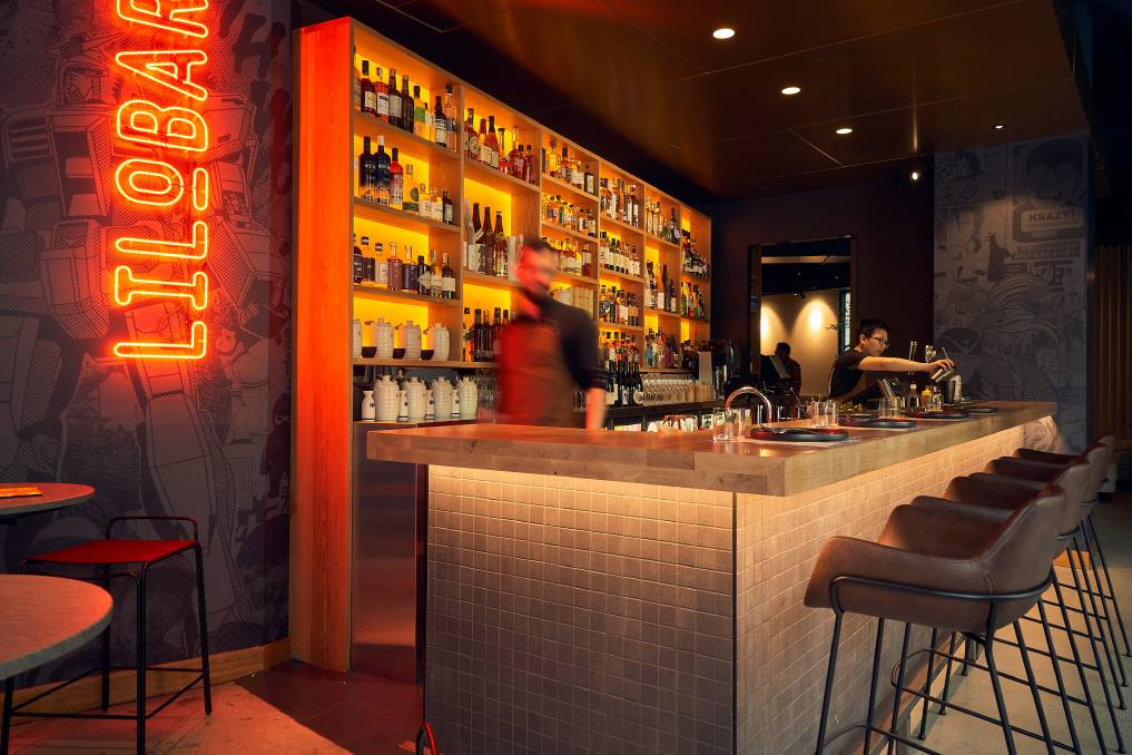 The Lilobar menu includes an extensive selection of wine, Sake and whiskey. Picture: Matt Loxton