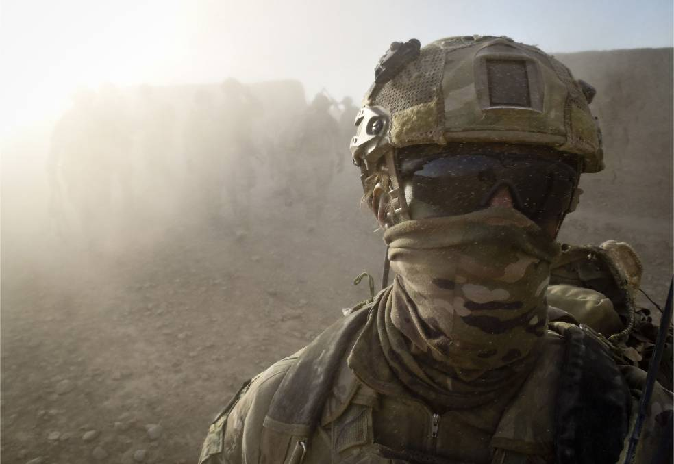 An Australian special forces soldier returns to base after a mission in Helmand province, southern Afghanistan, in 2012. Picture: ADF