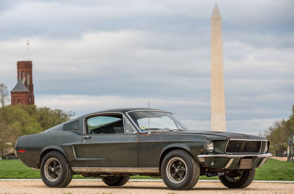 One of the two original 1968 Mustang GT fastbacks used in the movie Bullitt has survived, and resurfaced recently for a display in Washington DC. Picture: Ford