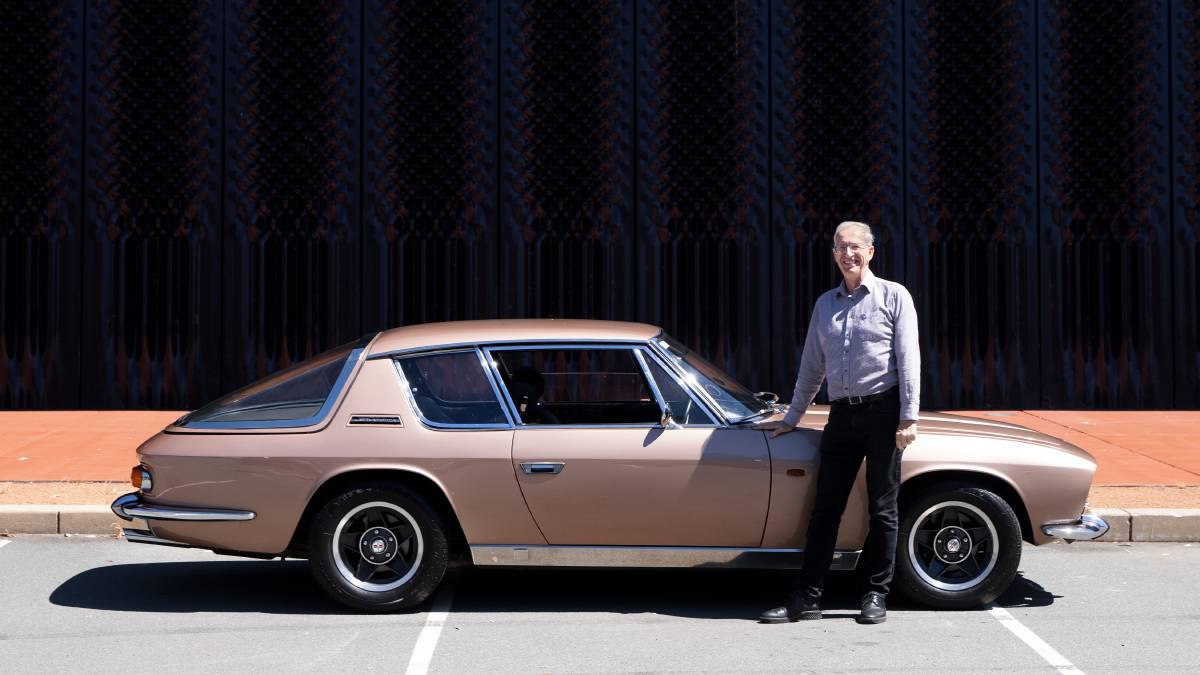 A rare Jensen Interceptor, owned by Mark Whitmore from Fraser, will be among around 600 cars displayed this Sunday in Queanbeyan. Picture: Sitthixay Ditthavong