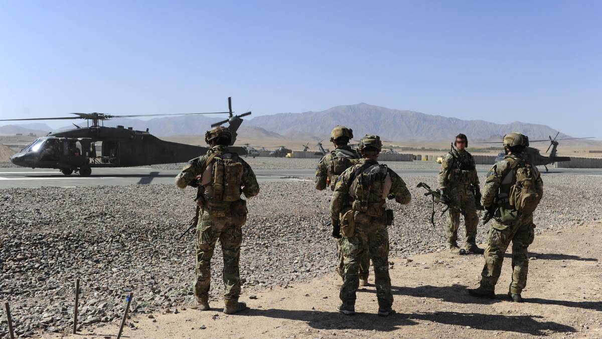 Special Operations Task Group soldiers in Afghanistan in 2010. Picture: Defence Media.