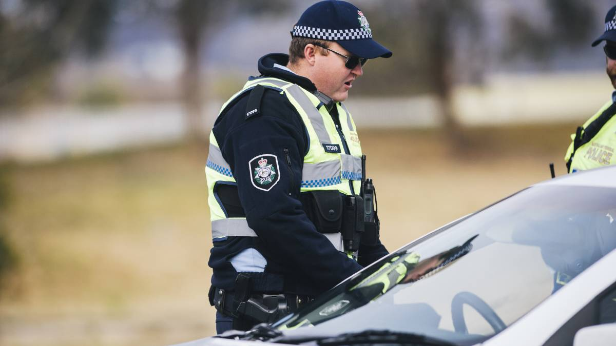 ACT Police performing random breath and drug tests. Picture: Rohan Thomson