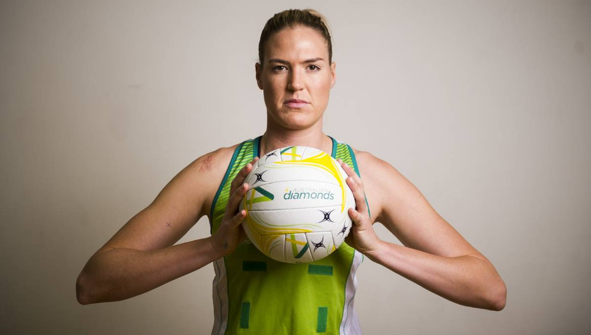 Diamonds captain Caitlin Bassett has signed with the Waikato Bay of Plenty Magic. Picture: Dion Georgopoulos