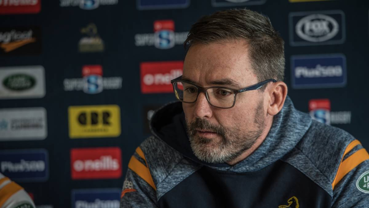 Brumbies coach Dan McKellar is urging Australian selectors to show patience with the game's emerging stars. Picture: Karleen Minney