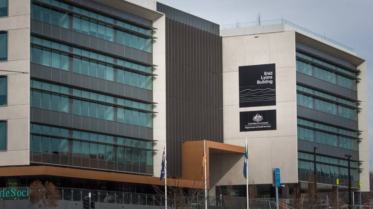 More than 1000 public servants have been redeployed from across Canberra to buildings including the Enid Lyons Building on Athllon Drive in Tuggeranong. Picture: Elesa Kurtz