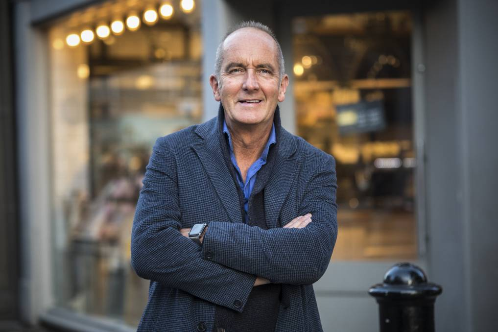 Kevin McCloud praised the Kingston Foreshore during his visit to Canberra in February. Picture: Supplied.