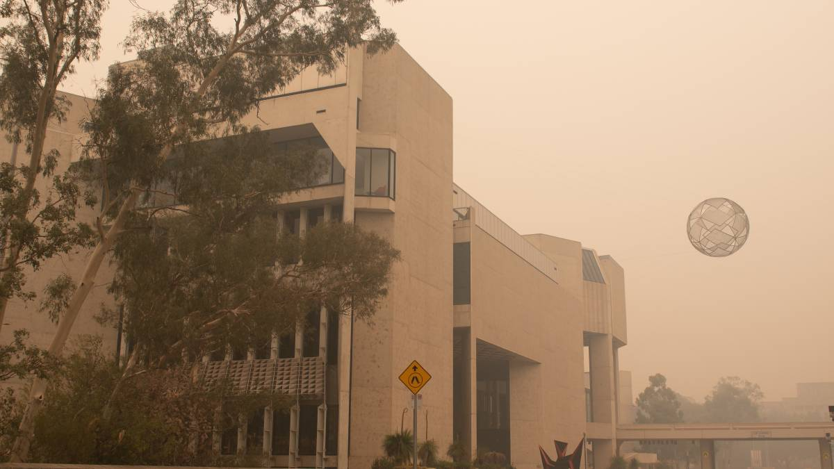 Smoke choked Canberra for weeks during the Black Summer bushfires. Picture: Elesa Kurtz