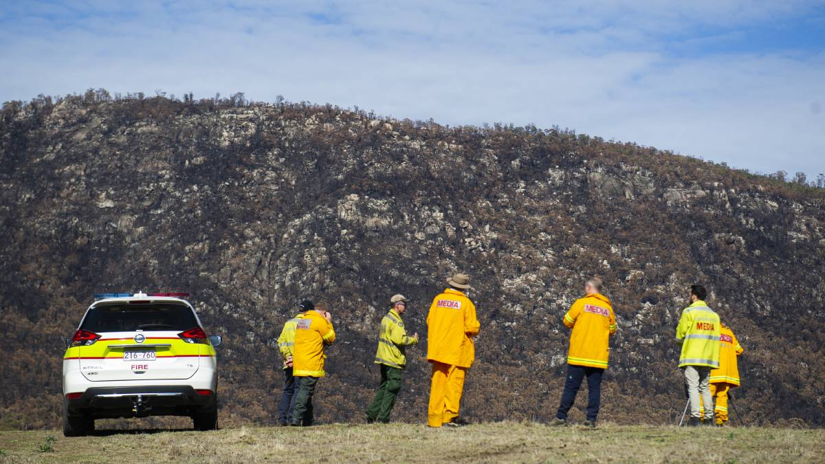 The aftermath of the Orroral Valley fire at Namadgi National Park. Picture: Dion Georgopoulos