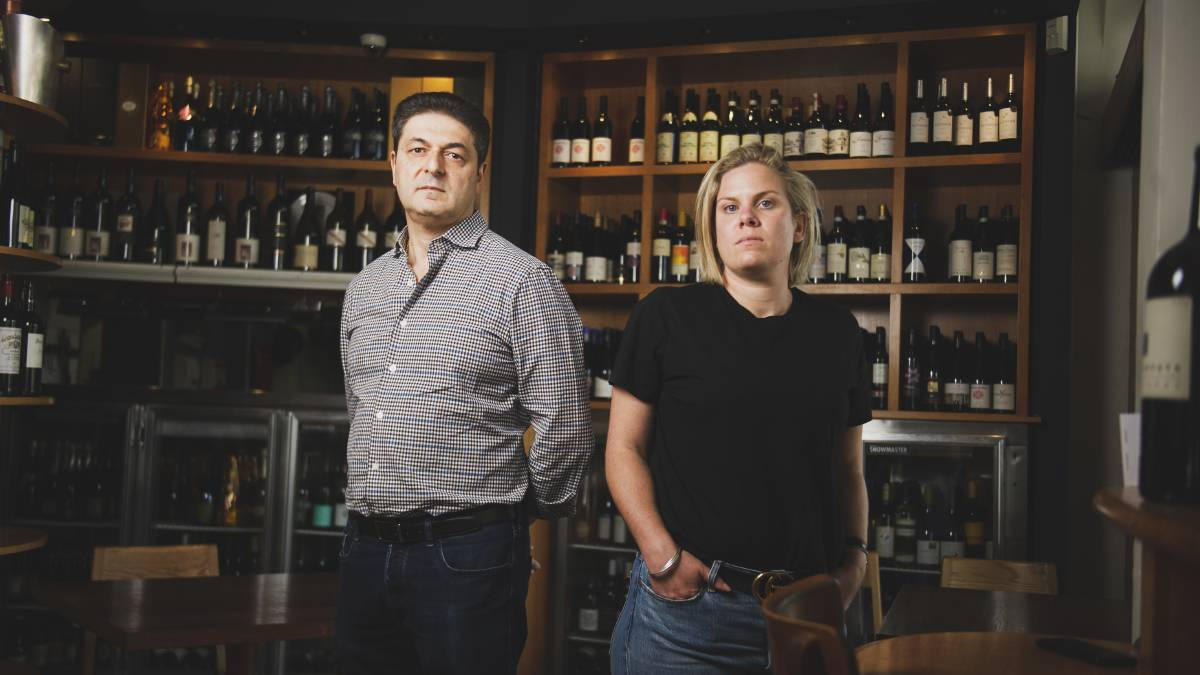 Family business owner of Italian and Sons and restaurant Joe Trimboli, and Director of Hopscotch, Young & Frisky, Piccolo, and Flash, Kate Parkinson. Picture: Dion Georgopoulos