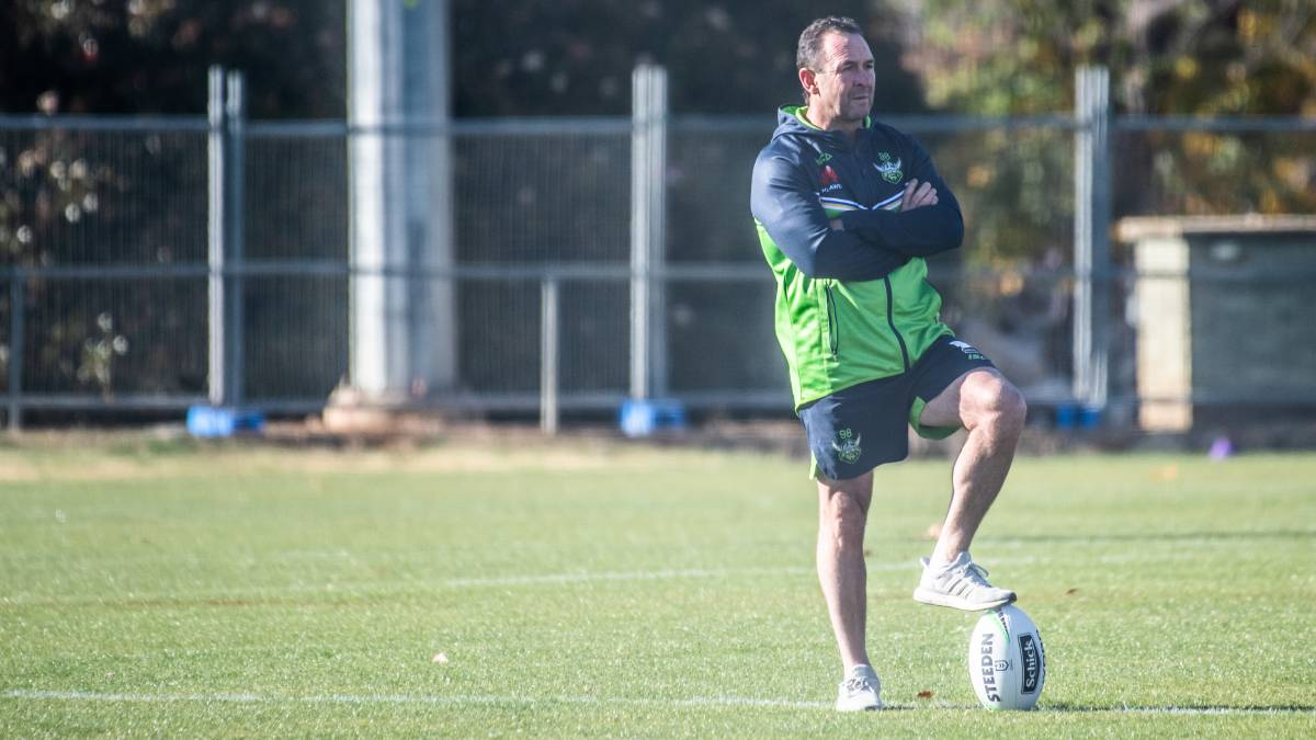 Raiders coach Ricky Stuart says the Apollo protocols are clear. Picture: Karleen Minney
