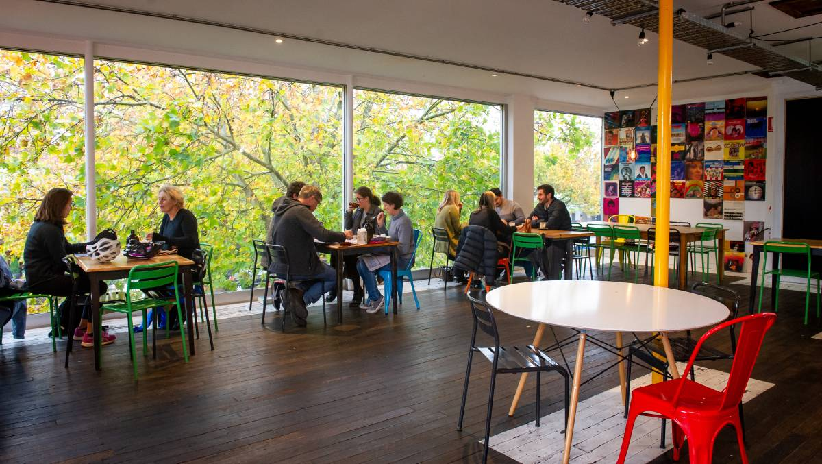 Lonsdale Street Roasters Number 7 seated 10 people for breakfast on Saturday as cafés on the popular Braddon strip adjusted to restrictions. Picture: Elesa Kurtz