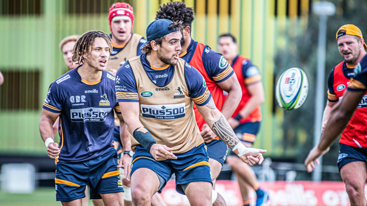 Jahrome Brown has returned to Brumbies training. Picture: Karleen Minney