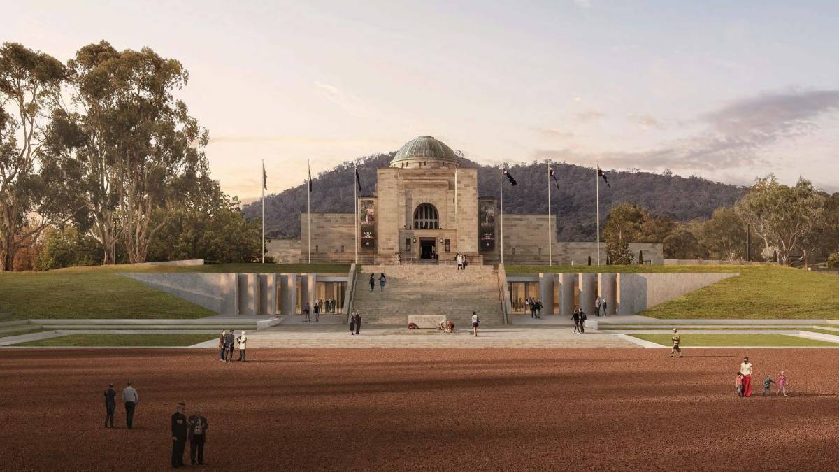 An artist's impression of the Australian War Memorial redevelopment. Picture: Supplied