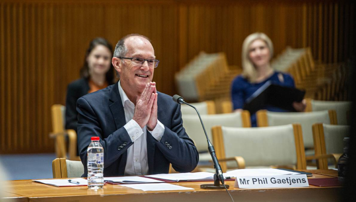Department of Prime Minister and Cabinet head Phil Gaetjens at Wednesday's inquiry. Picture: Karleen Minney