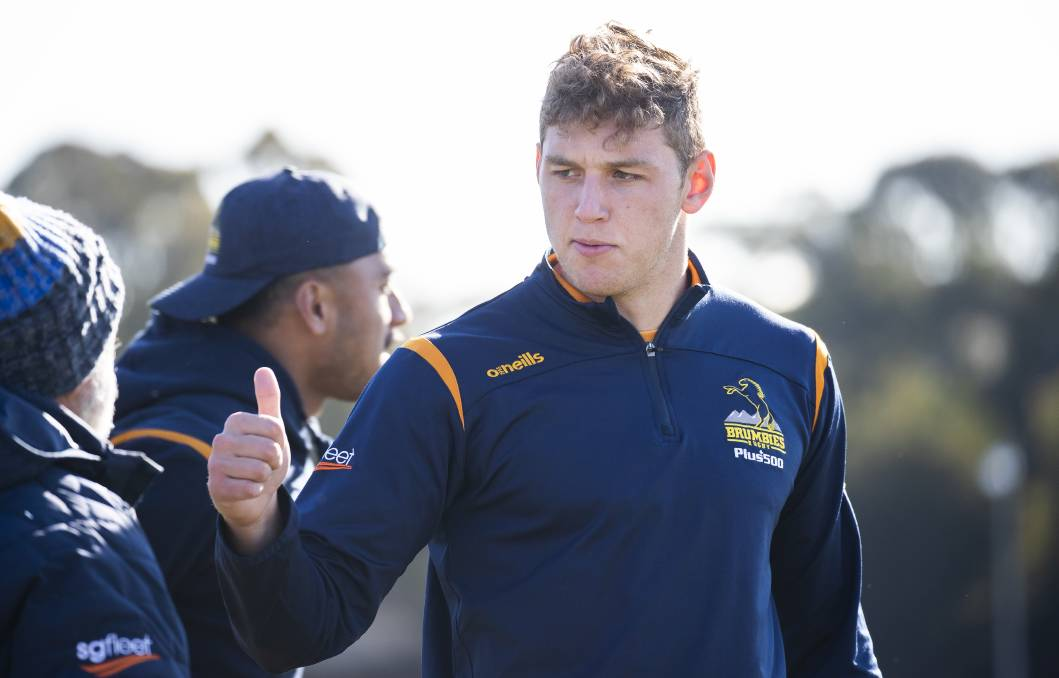 Bayley Kuenzle has re-signed with the Brumbies. Picture: Sitthixay Ditthavong