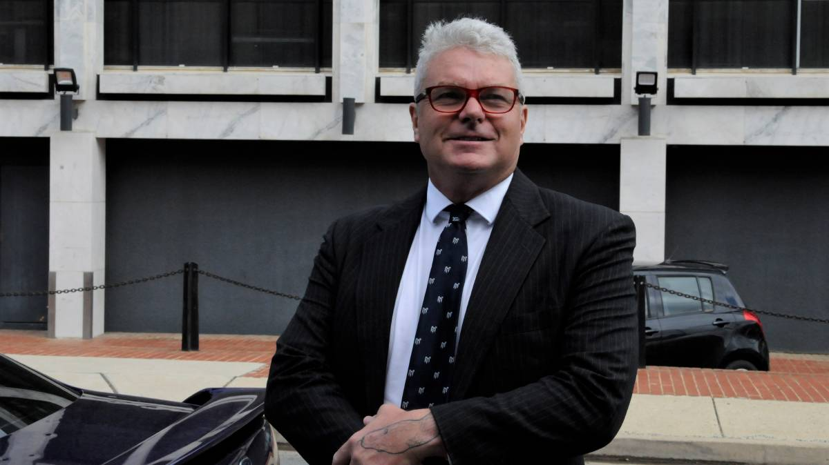 David McBride arriving at the ACT Supreme Court in February. Picture: Blake Foden