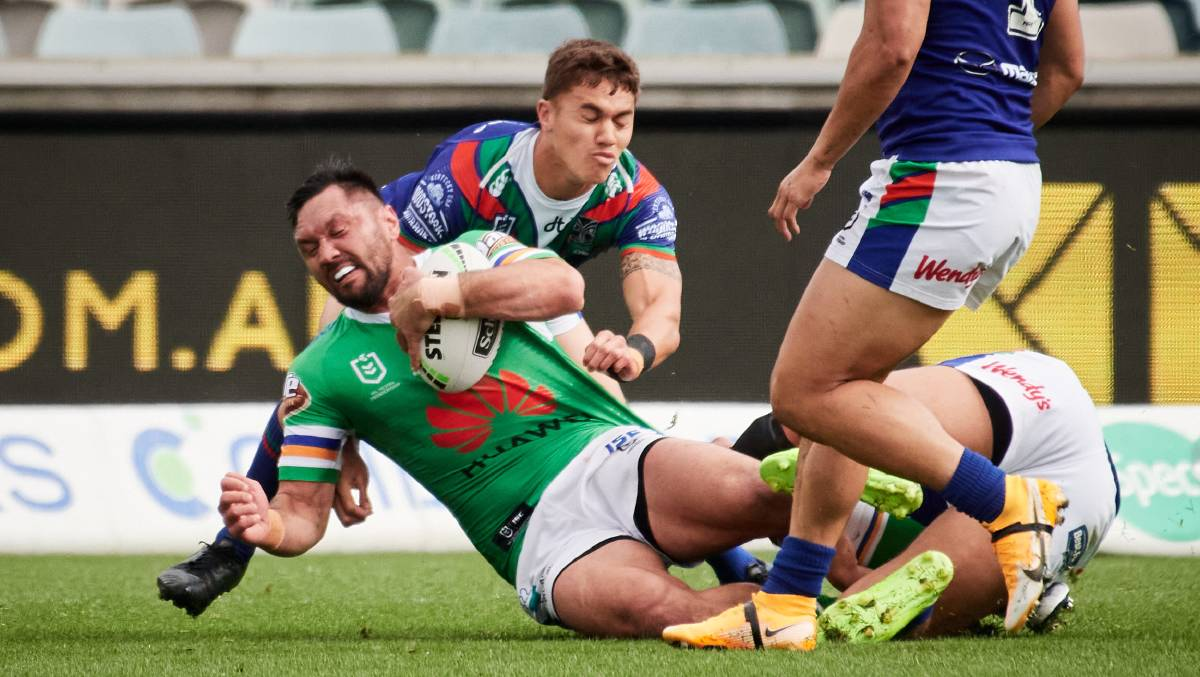 Raiders coach Ricky Stuart is confident winger Jordan Rapana will remain in Canberra. Picture: Matt Loxton