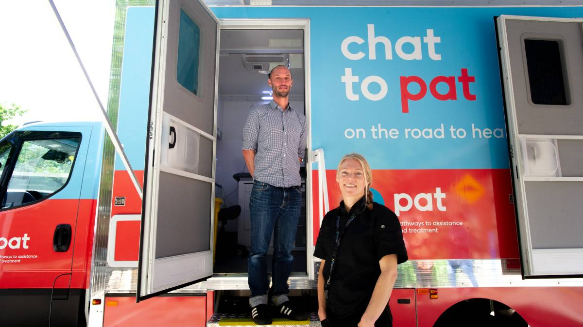 Dr Ben Harkness with practice nurse Ali Loom at the launch of a new mobile van by Direction Health Services. Picture: Elesa Kurtz
