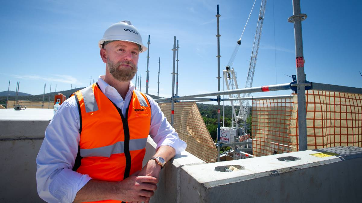 Geocon managing director Nick Georgalis at the company's Metropol development. Picture: Elesa Kurtz
