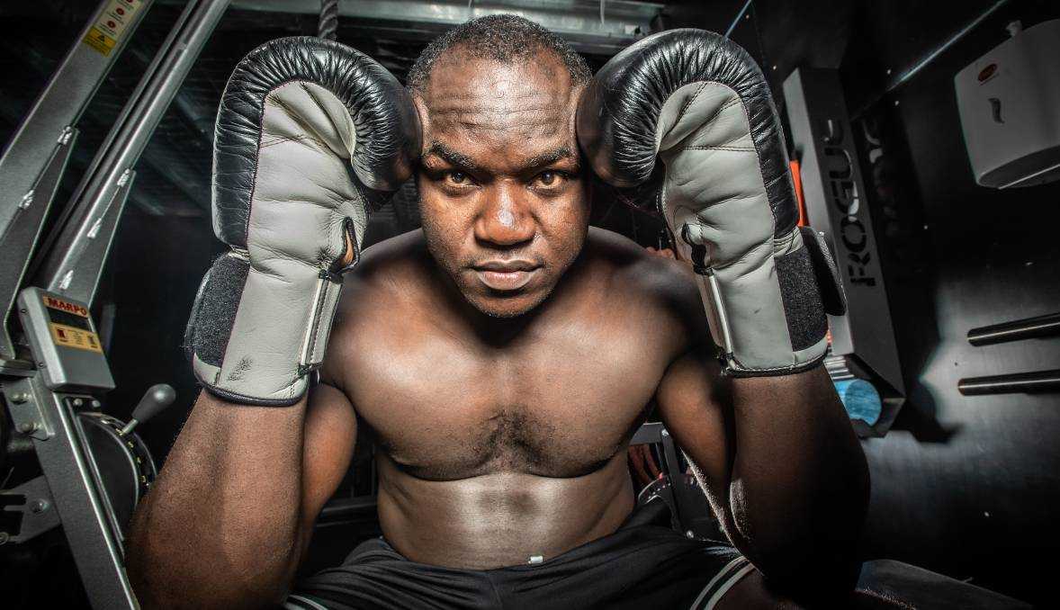 Arsene Fosso has his sights set on the Australian heavyweight title. Picture: Karleen Minney