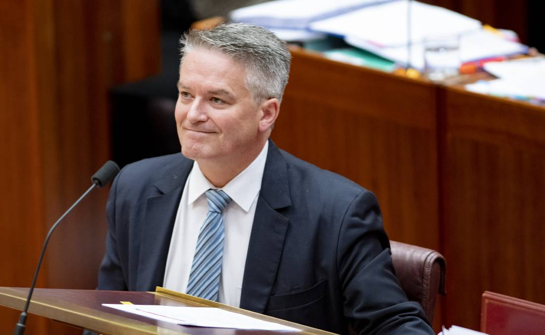 The size of the Advance to Finance Minister Mathias Cormann is mind-boggling. Picture: Sitthixay Ditthavong