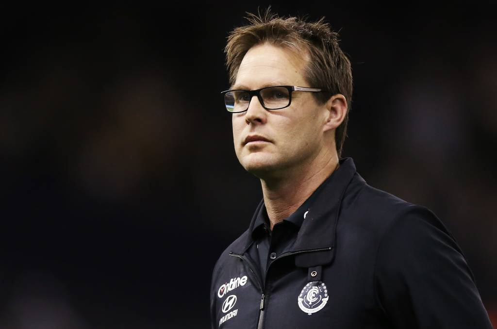 Carlton needs to reserve its judgement on coach David Teague, at least for the time being. Photo: Michael Dodge/Getty Images