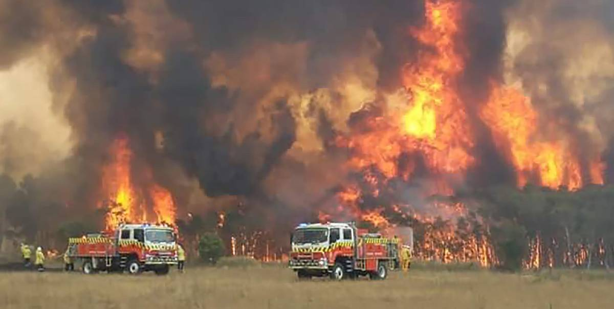 Alarm: NSW Rural Fire Service volunteers fight a Charmhaven fire on New Year's Eve. Picture: Supplied.